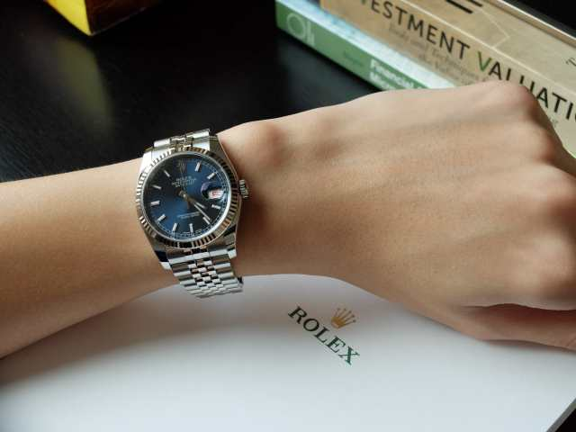 User Review: Rolex Datejust I (Blue, Fluted, Jubilee ...Rolex Datejust 36mm On Wrist